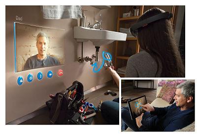احد الاستعمالات لنظارة الواقع المَزِيد هولولنز