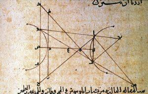 Diagram from ms. on optics by Ibn al-Haytham
